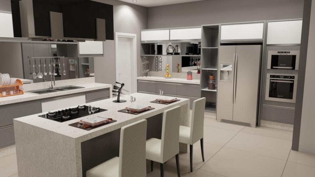 Cozinha moderna jhuliart decor for Islas de cocina para cocinas pequenas